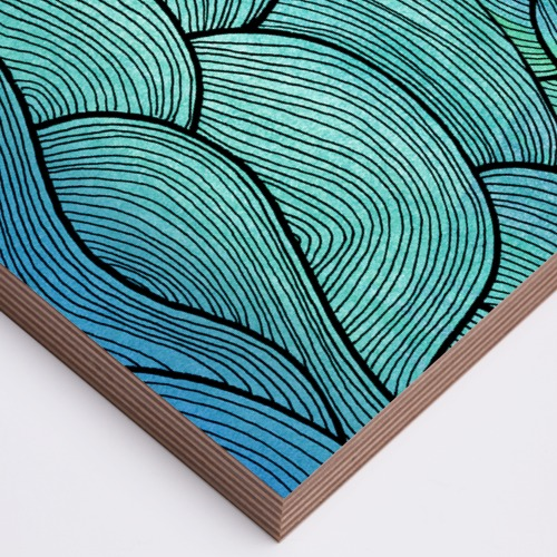 Sea Waves Pattern Wood Print Pom Graphic Design Shop By Artists Adorable Wave Pattern