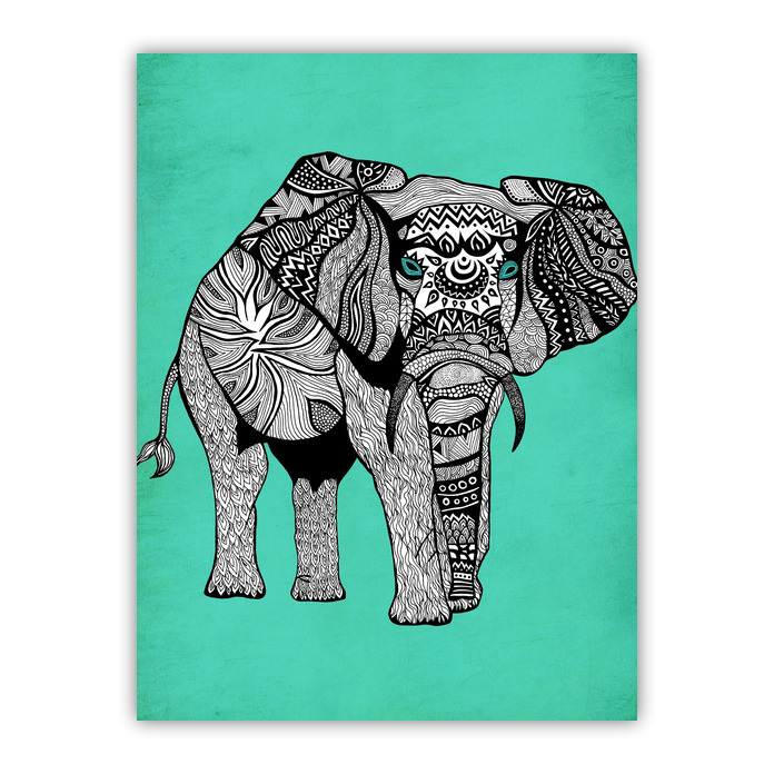 Tribal Elephant Of Namibia Ii Wood Print Pom Graphic Design Shop By Artists