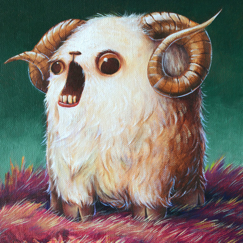 Derpy Year Of The Ram Wood Print Malangeo Shop By Artists