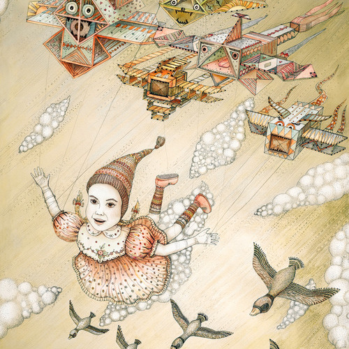 Dream of flying wood print ruta13art artists - The hideout in the woods an artists dream ...