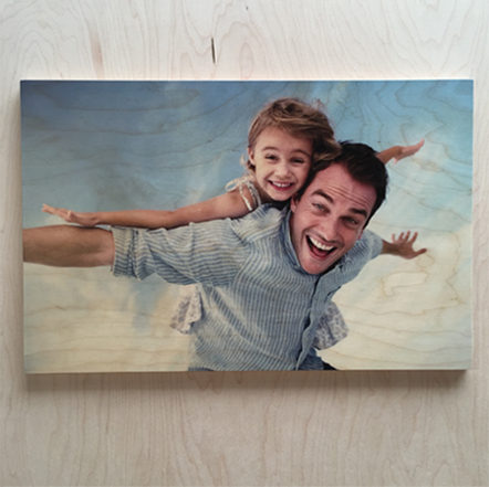 Father's Day printing on wood gift