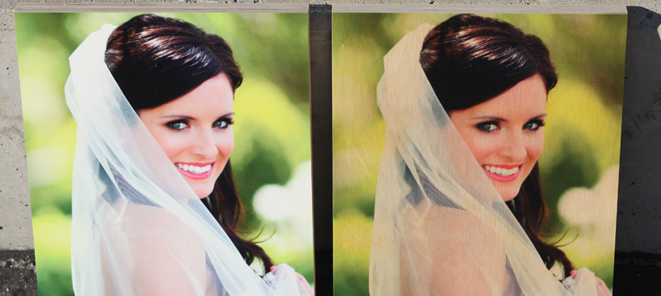 Photo of Bright White and Natural Gloss Bride