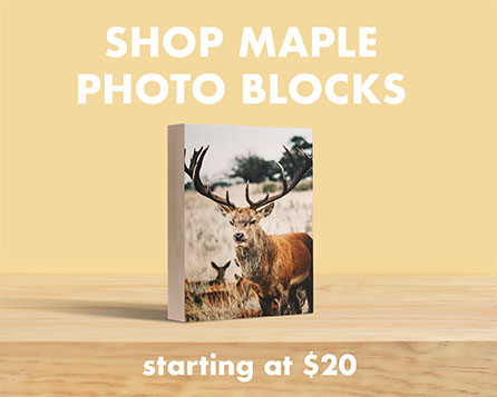 Prints on wood maple photo block unique custom holiday best boyfriend gift 2020