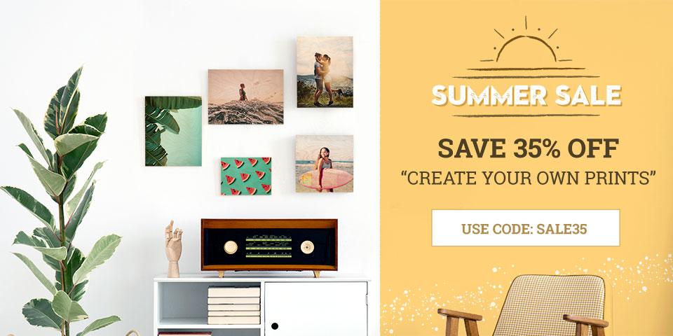 Prints on Wood Summer Sale